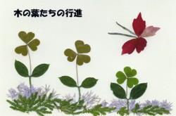 みどりの花とチョウ