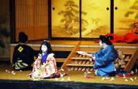 秋の村歌舞伎の一コマ