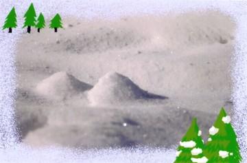 ちいさな雪の山