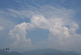 8月の空と雲