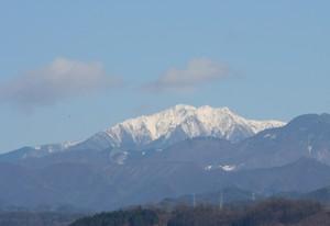 雪の仙丈岳