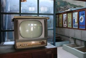レトロな銭湯とテレビ