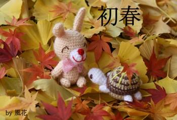 昨年晩秋のウサギとカメ
