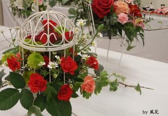 展示会場の花