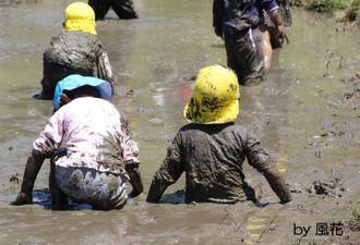泥まみれの子