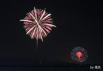 二ヶ所の花火