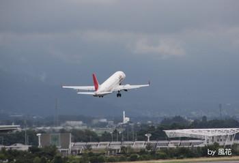 離陸した飛行機