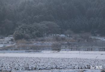 雪景色の阿南町