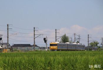 七久保駅から上りのキヤ95系
